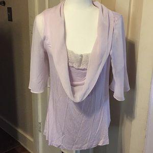 Soft surroundings light lavender blouse size M